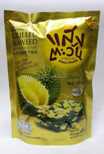 Grilled Seaweed with Grade A Monthong Durian Chips with 10 small bags 45g