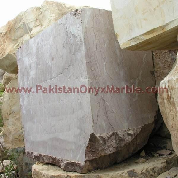 マシンカットマリーナピンクの大理石のmonolamaブロック