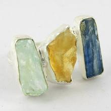 Maya Freedom !! Kyanite_Citrine_Aquamarine 925 Sterling Silver Ring, Silver Jewelry Wholesaler, Fresh Silver Jewelry