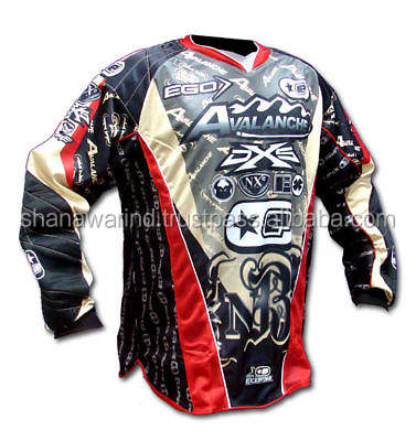Nouveau paintball maillot pour hommes, paintball maillot de sublimation imprimé sublimation paintball maillot