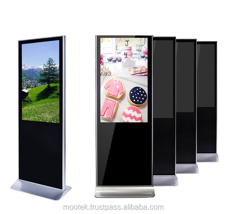 Custom interactive touch screen advertising display/LCD digital signage kiosk