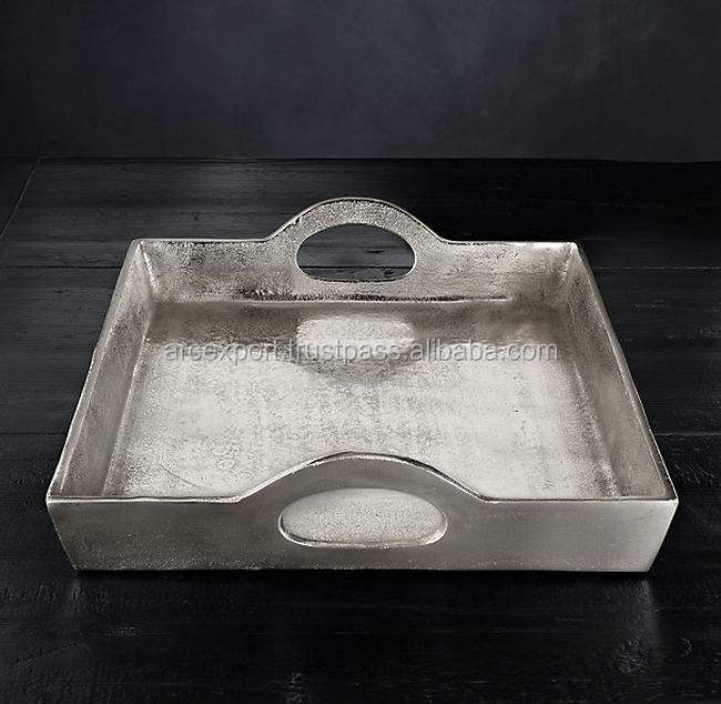 aluminum cast nickel plated decoration tray