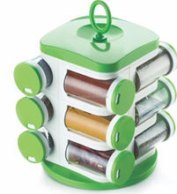 Multi Color Plastic Spice Jar Rack