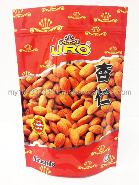 stand up pouch plastic bag for almonds,metalized food packaging for snack food,500g various nutty stand up pouch