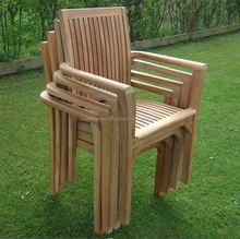 Teak Outdoor Garden Patio beach Stacking Chairs for dining and Furniture otherhomefurniture