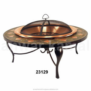 Round Copper Finishes Fire Pits