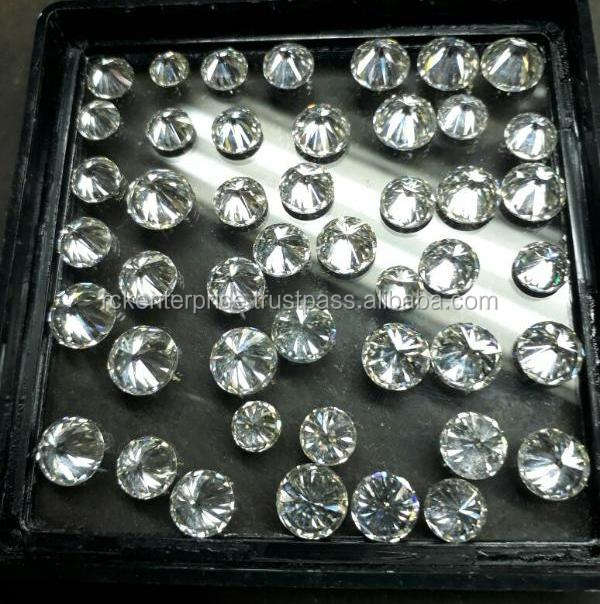 HPHT CVD diamond lab grown loose diamonds polished diamond white or yellow tint
