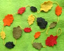 Felt Autumn Leaves Garland