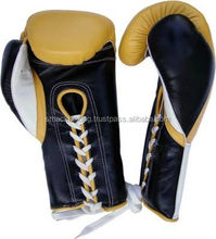 boxing gloves black red Leather or Artificial leather Custom Boxing Gloves