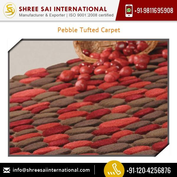 Cost effective Tear Resistance Pebble Tufted Floor Carpet Exporter