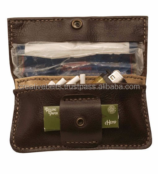 Tobacco leather pouches handmade best quality pouches