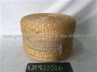 High quality water hyacinth stool with foam cheap price wicker seat cushion good price made in Vietnam