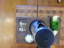 walnut kettle tray