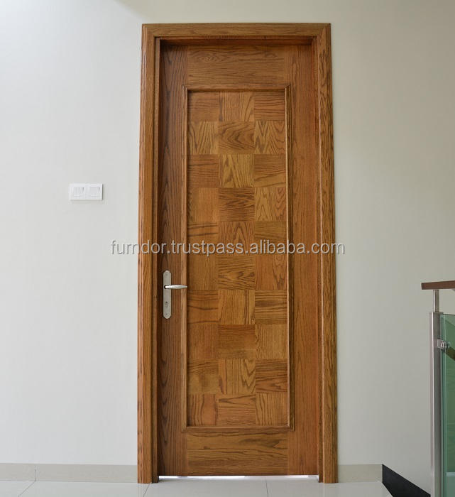 100% pure solid wooden door malaysia red oak