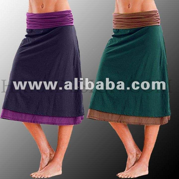 хлопка 2 ткань юбки