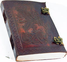 LEATHER Embossed Journal With Dual Latch Handmade notebook 100 % Celtic Design