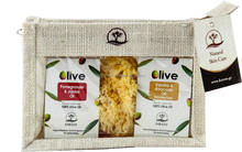 Natural Bath gift sets with Olive soap