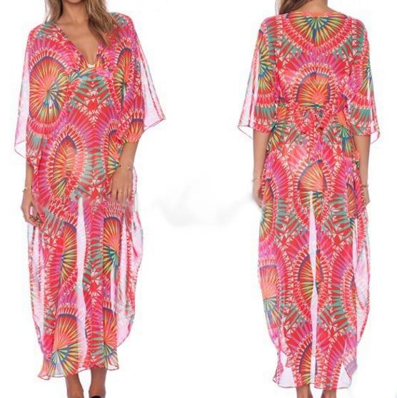Giraffita Muslim Arab Abaya Islamic Lace Stitching Long Sleeve Maxi Dress Kaftan
