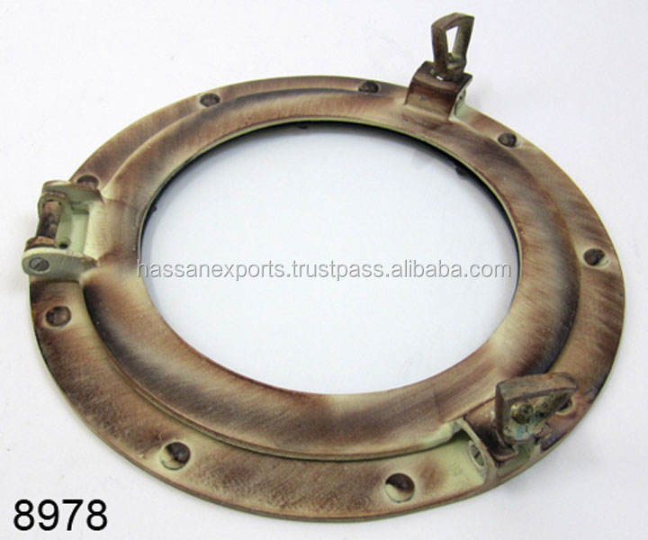 Bronze Nautical Ship Porthole Glass Round Porthole