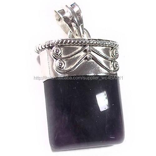ametista ciondolo gioielli jaipur ingrosso argento 925 ciondolo