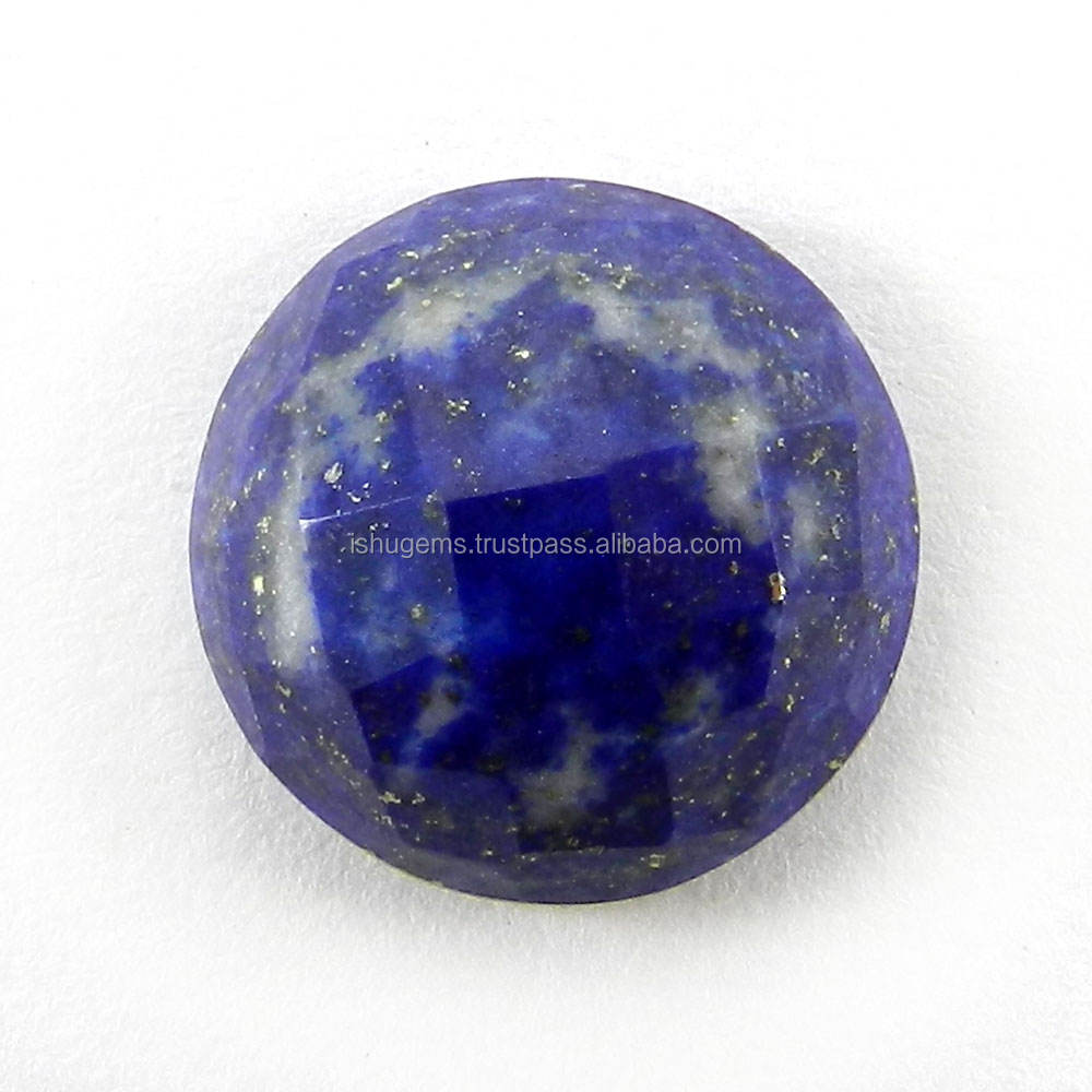 Jewelry Setting Stone ! Lapis lazuli from Afghanistan 16 mm Semi Precious Gemstone Round Checker Cut 15 Cts