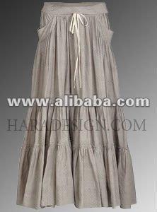 карман хлопка слоя юбка