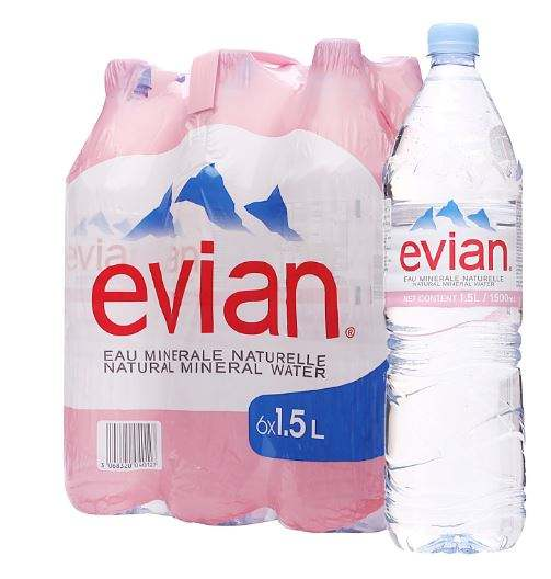 Evian agua Mineral Natural en 330ML 500ML 750ML 1L... 1.5L botellas de PET
