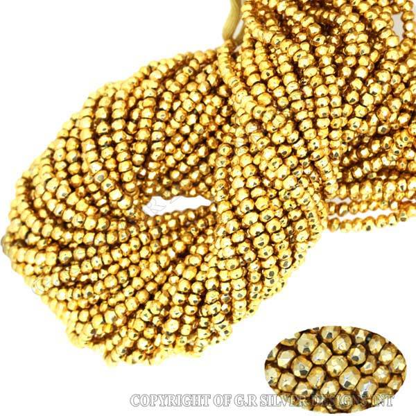 gold pyrite beads,AAA 3-4mm rondelle faceted gemstone beads strands,wholesale beads india