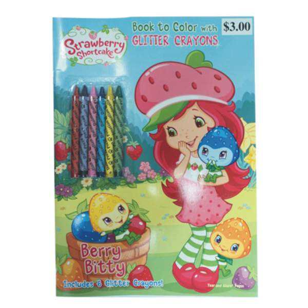 Strawberry Shortcake Coloring Book w/ Crayons