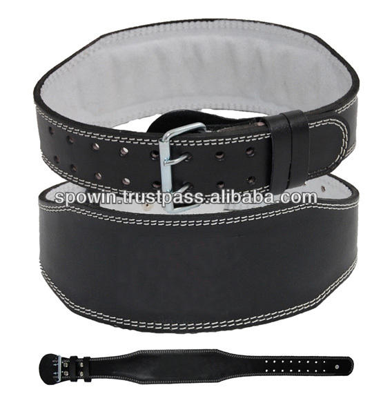 Weight Lifting Belt (4-6 Inches Wide) - Comfortable & Durable Pre Broken-in Genuine Leather