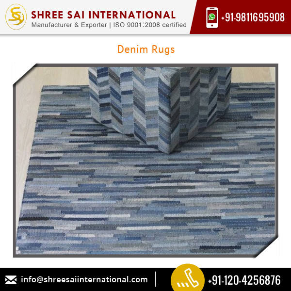 Various Designs and Colors Denim Rug Carpet Distributor