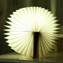 portable rechargeable folding led reading lamp book shaped lamp