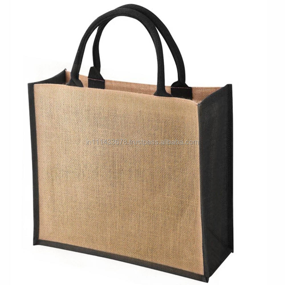 PROMOTIONAL JUTE BAGS WITH COTTON WEBBING SOFT HANDLE,KOLKATA,INDIA
