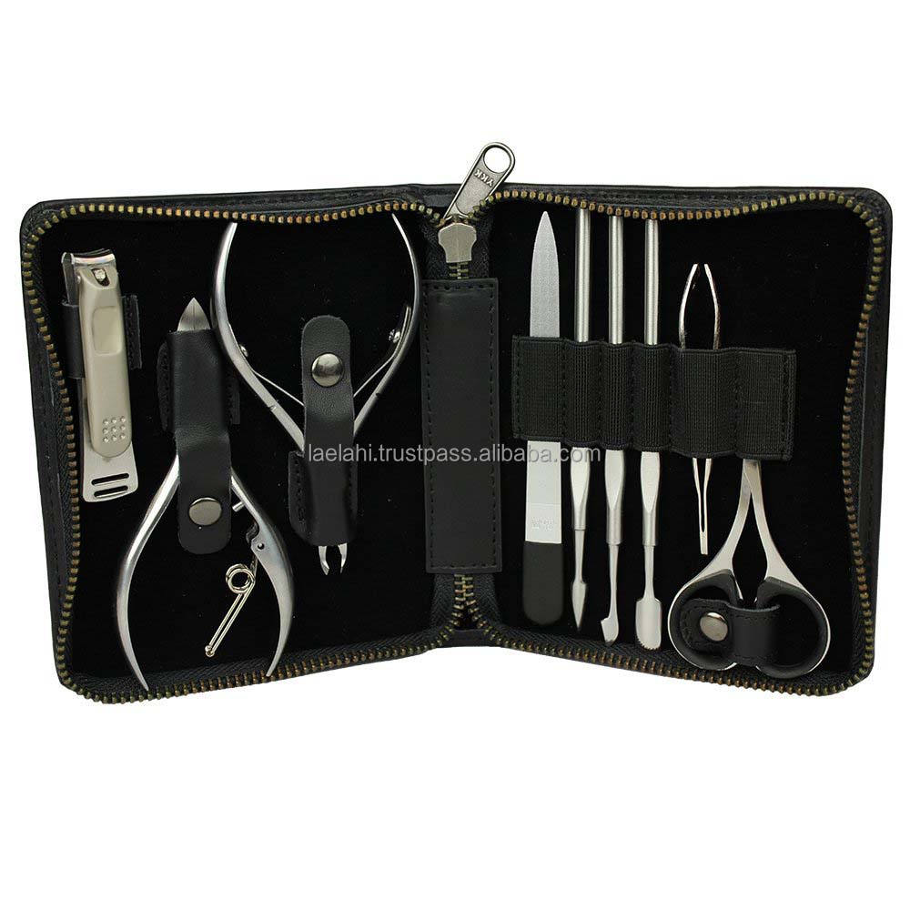 Hot Sell Manicure Pedicure Grooming Kit Set For Professional Finger & Toe Nail Care Scissors Clipper Case 2020