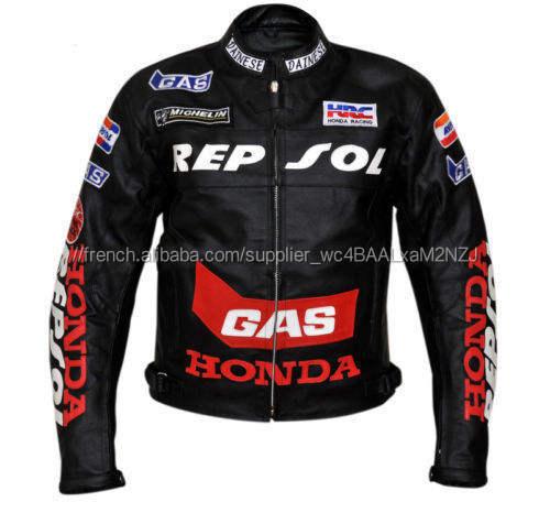 Main Repsol Honda Moto En Cuir Véritable veste Moto Racing veste