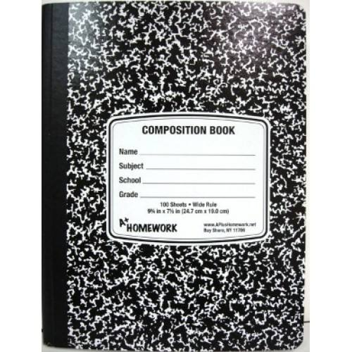 100 SHEET COMPOSITION NOTEBOOK - COLLEGE RULE #UC1926