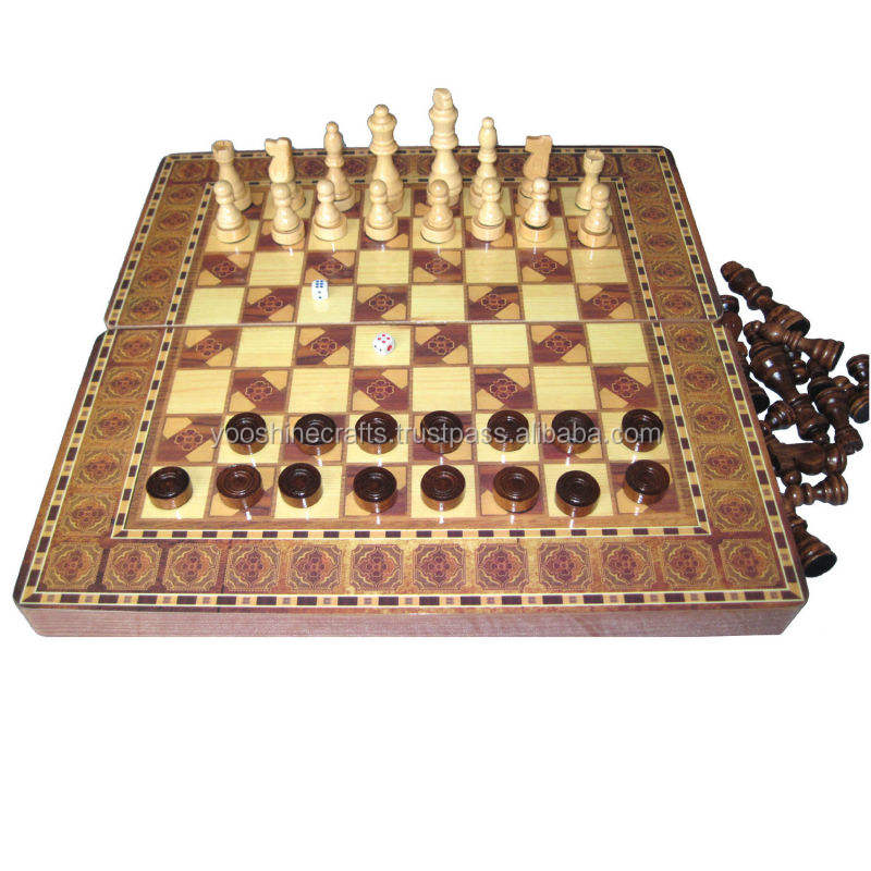 Chess set, dual-use chess box, luxurious, Large wooden chess sets, games