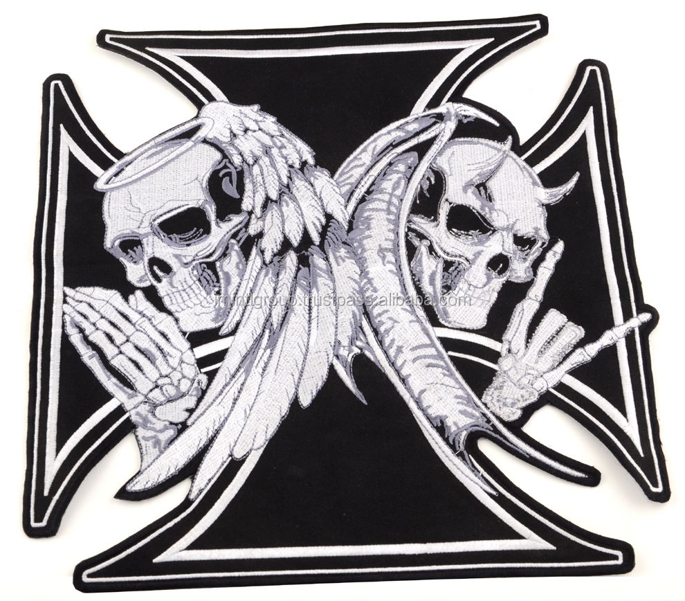 Skull & Crossbones Patch Skull Motorcycle Patches Buy