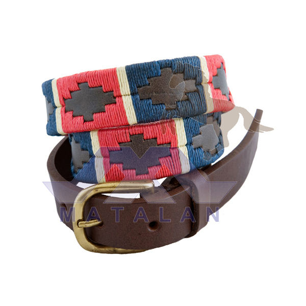 Argentine Style Leather Polo Belts
