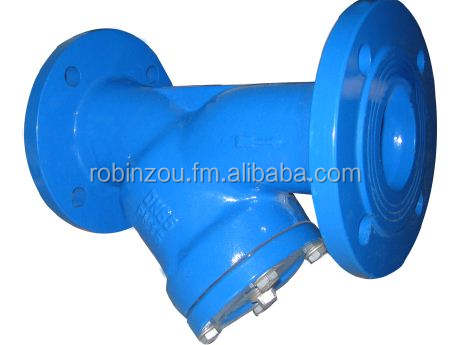 DIN flanged cast iron Y strainer,filter,valves,PN10/PN16,GG25/GGG40