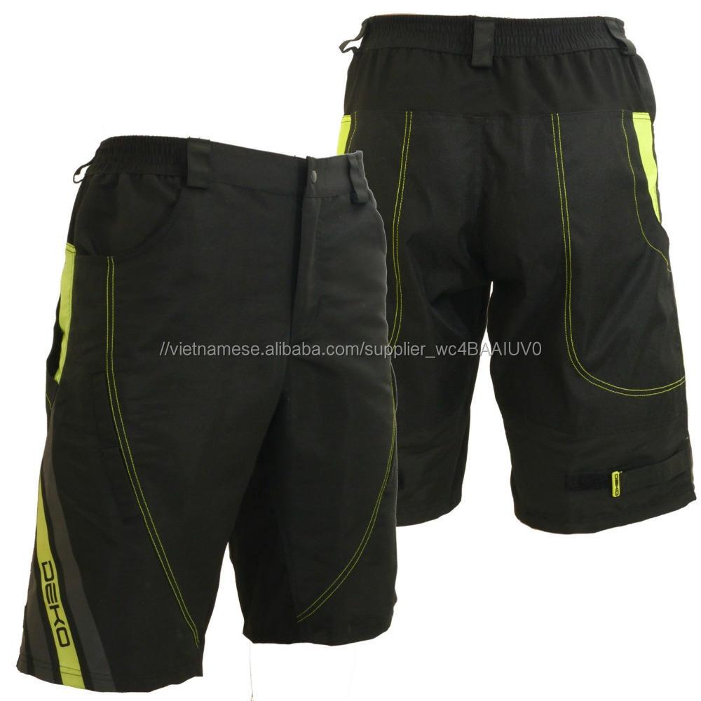 Men của Mountain Bike Đi Xe Đạp Baggy Shorts MTB shorts với tùy chọn độn