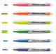 Munhwa water based ink 4.0mm chisel tip fluorescent neon color highlighter pen