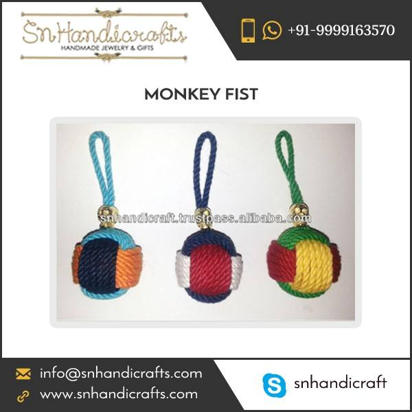 Tested Quality Long Lasting Monkey Fist Nautical Rope Keychain for Bulk Importers
