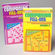 CROSSWORD PUZZLE COMPANION FILL- IN POCKET SIZE 2ASST IN CNTR DIS #6372P