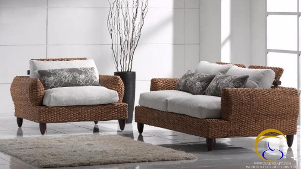 Lujo Modulares ratán mimbre natural forma de pastos marinos conjunto vivo muebles para el hogar