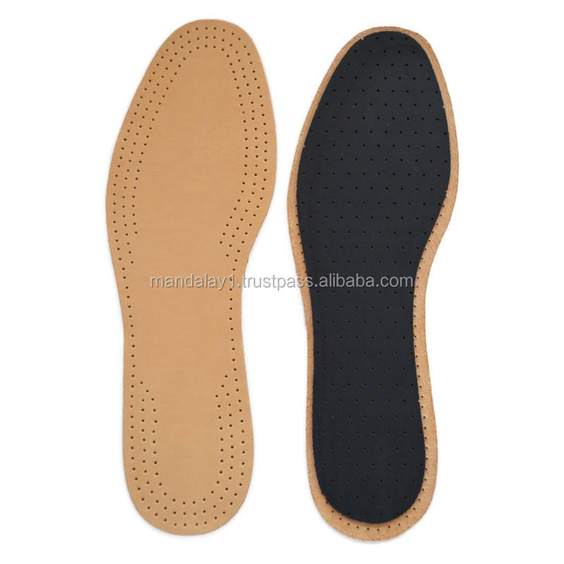 Vegetable tanning sheep leather insoles