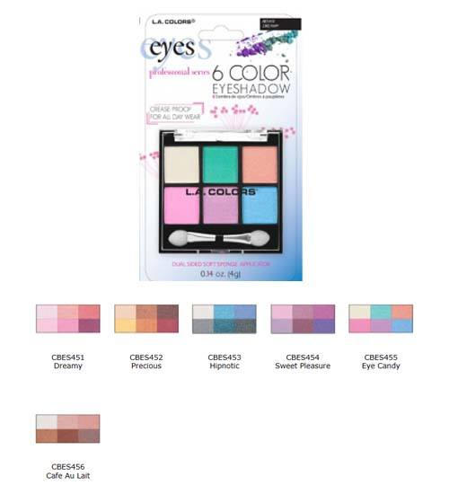 Blister 6 Color Eye Shadow Eye Candy