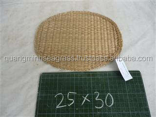 Natural seagrass placemat high quality wicker table mat
