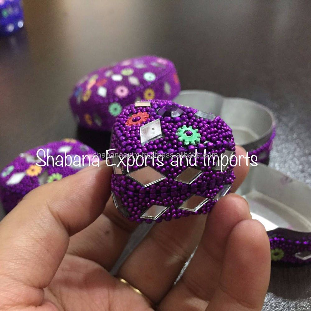 Indian handicrafts wholesale trinket box wedding ring box decorative pill box
