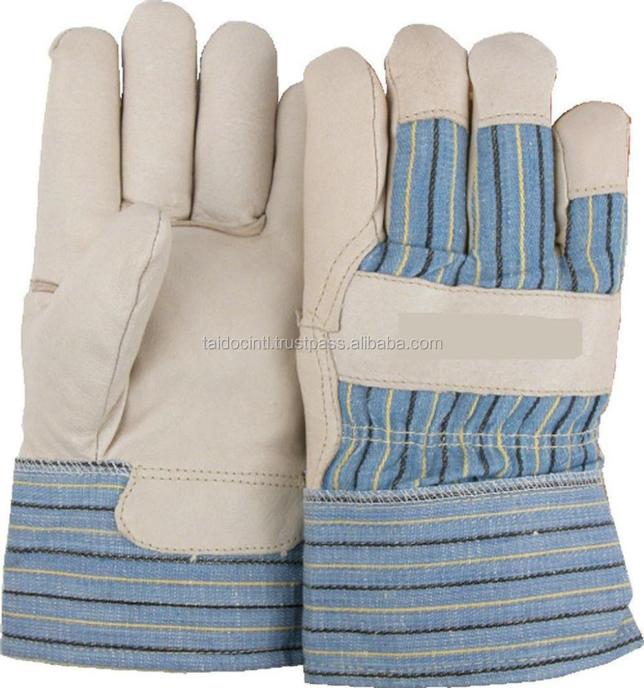 Work Gloves Construction Leather Cowhide Premium / professional Working Glove